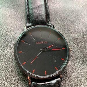 Brand New red & black unisex Geneva watch